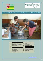 968KB Togo Newsletter - November 2011 - Projects Abroad