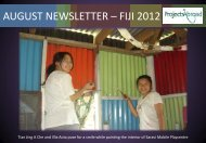 AUGUST NEWSLETTER – FIJI 2012 - Projects Abroad