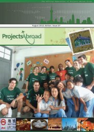 August 2011 Edition: Issue 57 - Projects Abroad