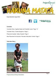 Projects Abroad Kenya Newsletter Contents: Volunteer Story ...