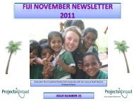 Fiji November Newsletter 2011 - Projects Abroad