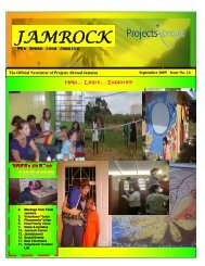 1,54MB Jamaica Newsletter - September 2009 - Projects Abroad