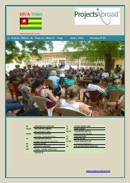 986KB Togo Newsletter - July 2011 - Projects Abroad
