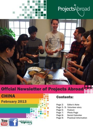 1,97MB China Newsletter - February 2013 - Projects Abroad