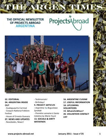 The Argen Times - Projects Abroad