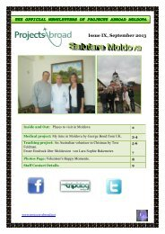 1,76MB Moldova Newsletter - September 2013 - Projects Abroad