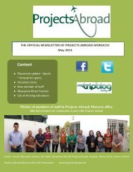May 2013 - Projects Abroad