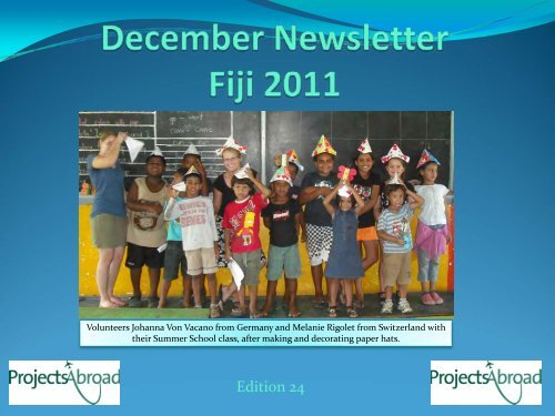 December Newsletter Fiji - Projects Abroad