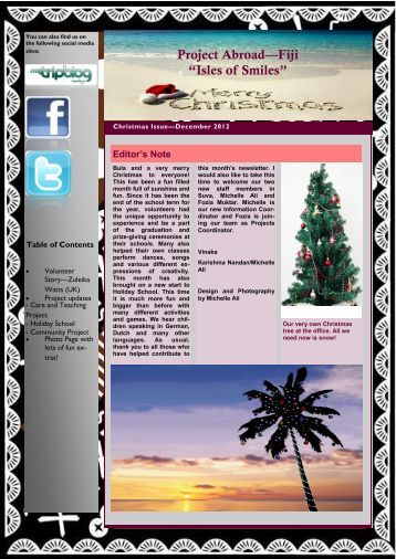 2,34MB Fiji Newsletter - December 2012 - Projects Abroad