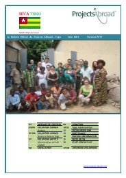 Togo Newsletter - June 2011 - Projects Abroad