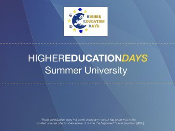 Higher Education Days - Projects