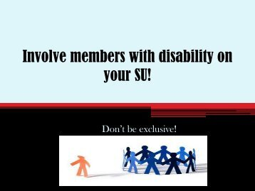 Disability Project - Projects