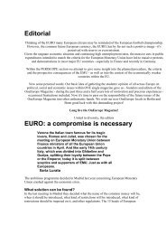 Editorial EURO: a compromise is necessary - Projects