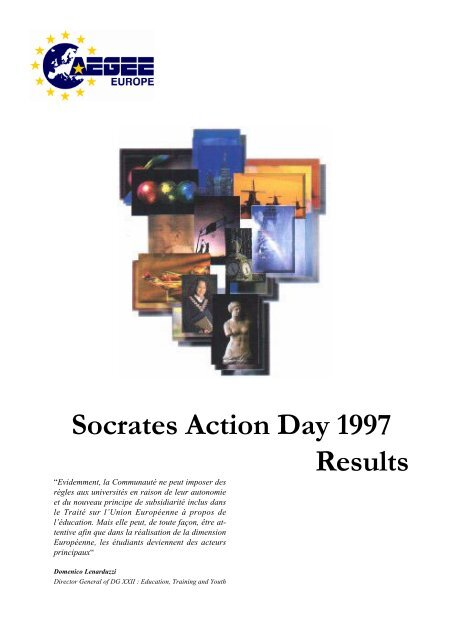 Socrates Action Week 1997 Results - Projects - AEGEE Europe