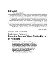 Editorial From the Force of Ideas To the Force of Numbers - Projects ...