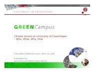 Green Campus presentation - Projects