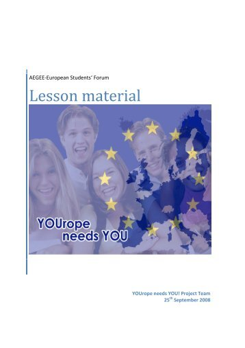 Lesson material - Projects - AEGEE Europe