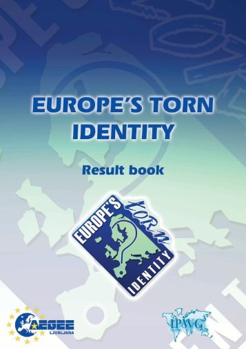 europe's (torn?) identity - Projects - AEGEE Europe