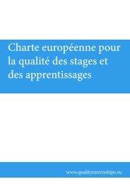 Charte européenne pour la qualité des stages et des apprentissages