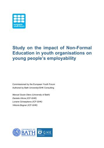 Study on the impact of Non-Formal Education in youth organisations ...