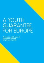 A YOUTH GUARANTEE FOR EUROPE - Projects