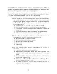 Voorbeelden van meerkeuzevragen, gebruikt in tentamens vanaf ...