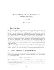 Irreversibility and the second law of thermodynamics