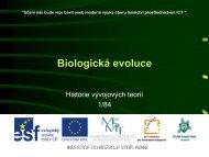 Biologická evoluce - Projekt EU