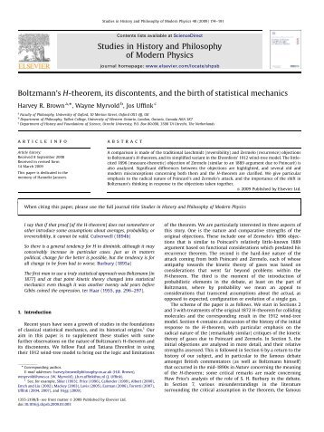 Boltzmann's H-theorem, its discontents, and the birth of statistical ...