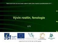 Vývin rostlin, fenologie - Projekt EU