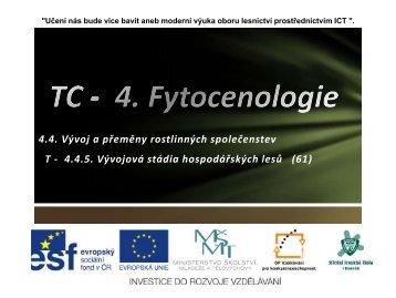 TC - 4. Fytocenologie - Projekt EU