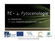 Analytické znaky fytocenóz II. - Projekt EU