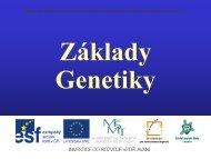 Základy genetiky - Projekt EU