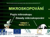 MIKROSKOPOVÁNÍ - Projekt EU
