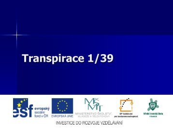 Transpirace 1/39 - Projekt EU