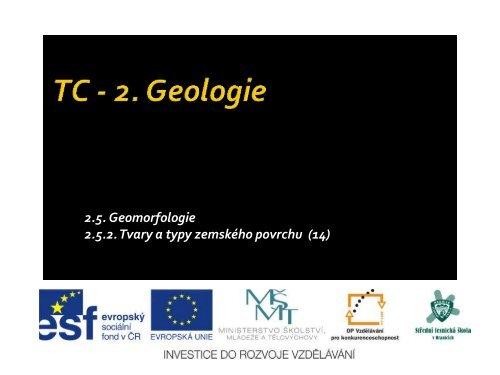 Tvary a typy zemského povrchu - Projekt EU