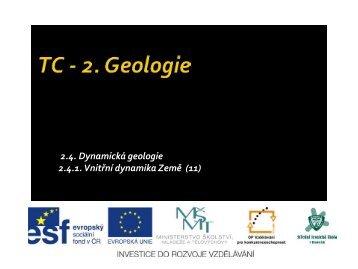 Vnitřní dynamika Země - Projekt EU