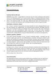 Pressemitteilung: - Projekt Quartett