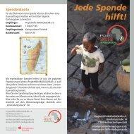 Jede Spende hilft! - ProjektHilfe-MADAGASKAR eV