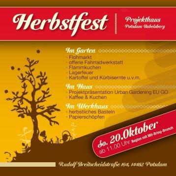 Download Flyer (pdf, 311KB) - Projekthaus Potsdam