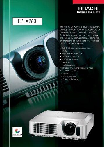 CP-X260 - Projektor.at