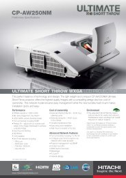 cp-aw250nm ultimate short throw wxga - LCD and DLP Projectors