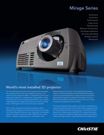 Mirage Series - Projector Central