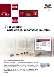 The versatile, portable high-performance projector. - ViewSonic