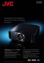 Carefully Balanced Technologies for Superb ... - Projector Reviews
