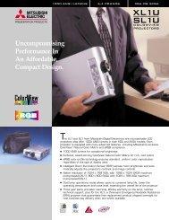 Mitsubishi - XL1U / SL1U Projector PDF - HCinema