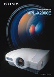 VPL-X2000E - HCinema