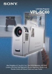 LCD Data Projector VPL-SC60 - HCinema