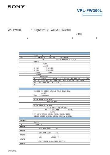 VPL-FW300L - HCinema