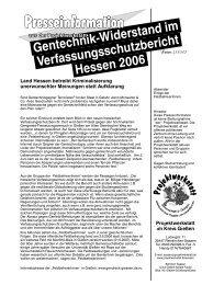 Presseinfo als PDF - Projektwerkstatt